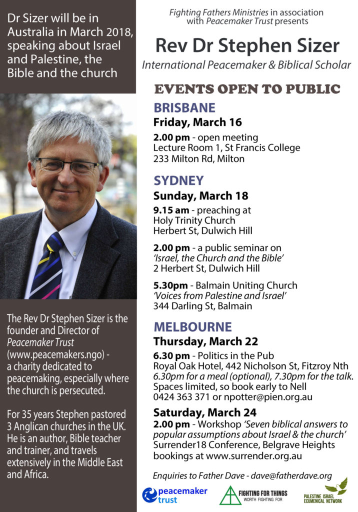 Stephen Sizer Public events 2